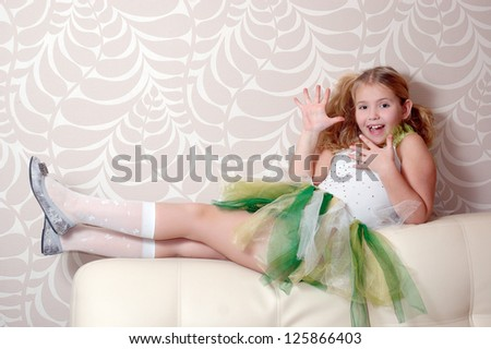 cute girl with  excited look