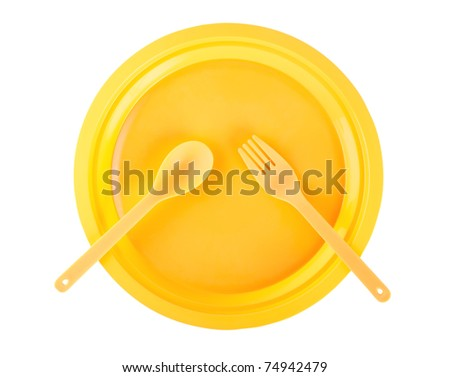 Cutlery set isolated on a white background
