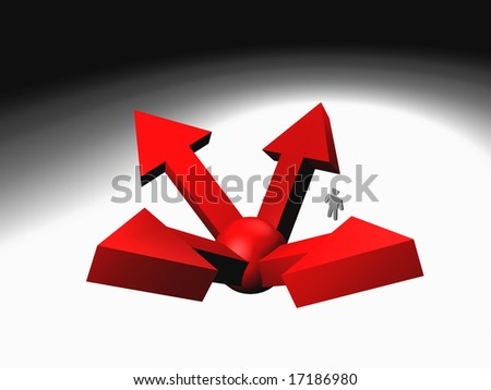3d abstract arrows