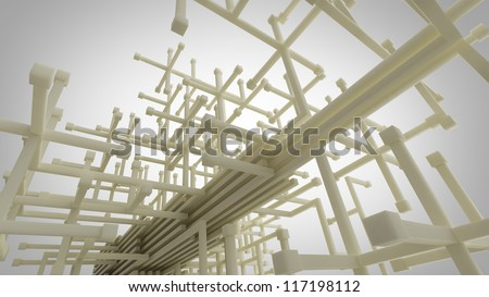 3D abstract background High resolution 3d render