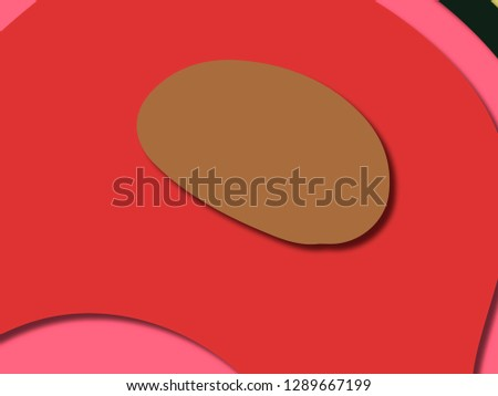 3D abstract background with paper cut shapes.Abstract paper carve template background,for book cover.Paper cut background. Abstract realistic paper decoration for design #1289667199