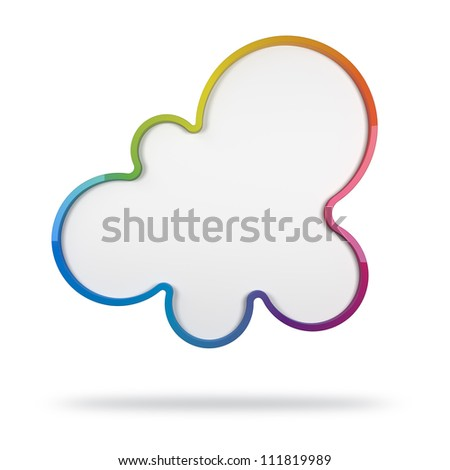 3d abstract design with colorful shape on white background