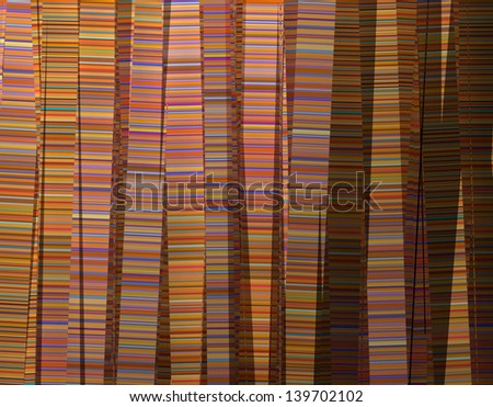 3d abstract multiple color backdrop in vertical stripes