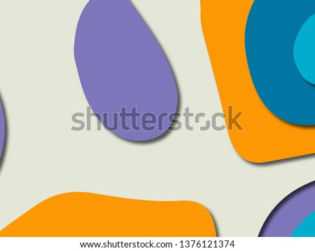3D abstract paper art style, design layout for business presentations, flyers, posters, prints, decoration, cards, brochure cover.Paper cut background. Abstract realistic paper decoration for design #1376121374