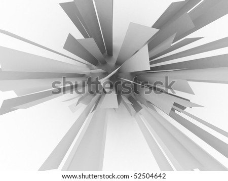 3d abstract plate