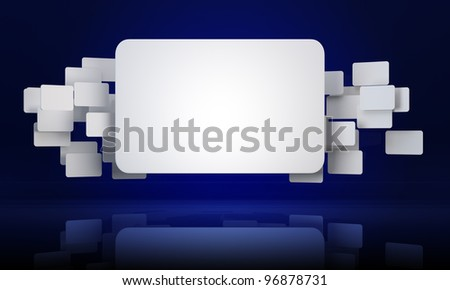 3D abstract rectangle banners background
