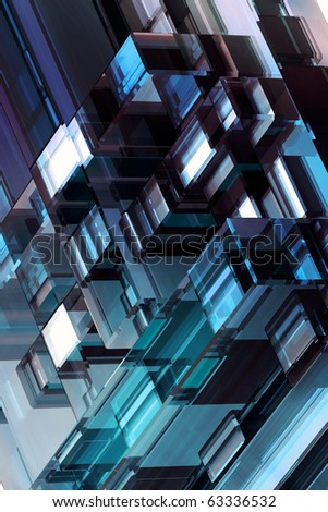 3D abstraction background