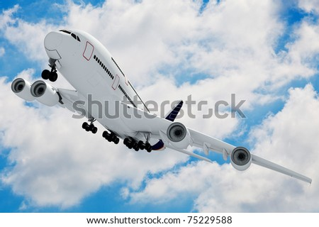 3d airplanes against perfect blue sky