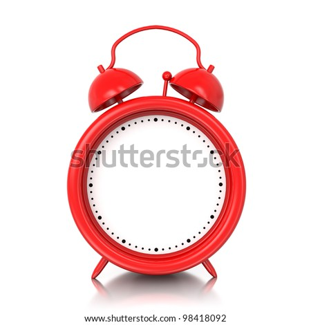 3d Alarm Clock With Blank Space For Your Text, Graphic ... Blank Alarm Clock Clipart
