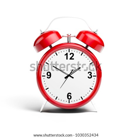 3d alarm shiny clock