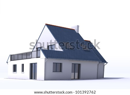 3D architecture model of a house,