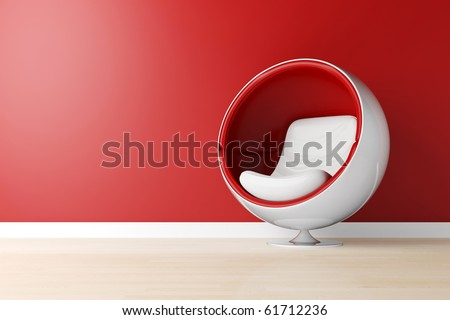 3d armchair, studio shot - stock photo