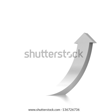 3d arrow background - stock photo