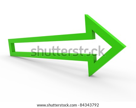 3d arrow green up way icon sign growth