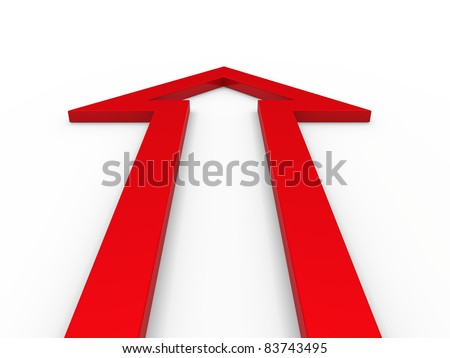 3d arrow red up growth success business