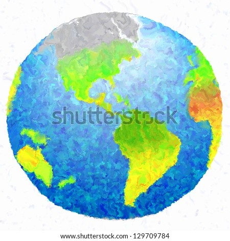 3d art earth grunge paint isolated background
