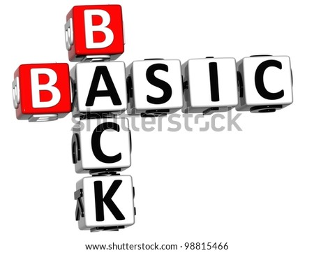 3D Back to Basic Crossword text on white background