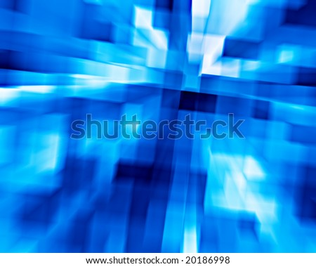 3d background from high speed motion blurred cubes