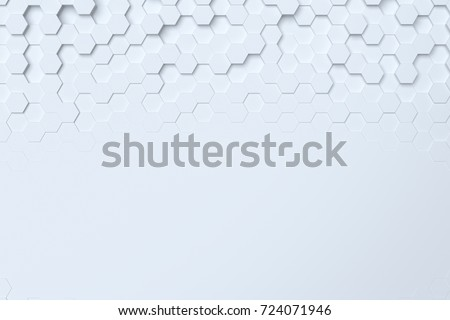 3d background light  honeycomb of different height, can be used in cover design, book design, website background, CD cover, advertising.3d rendering.