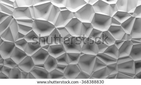 3d background randomly displacement surface, voronoi pattern  stock photo