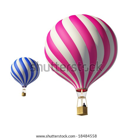 Stock Photo 3d balloons isolated on white