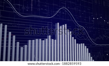 3D Bar Charts.Business growing up and down bars.HUD diagram technological intro. Business and finance stock market background.Bright and beautiful 3D render.Good for infographic projects and intro. Stock photo ©