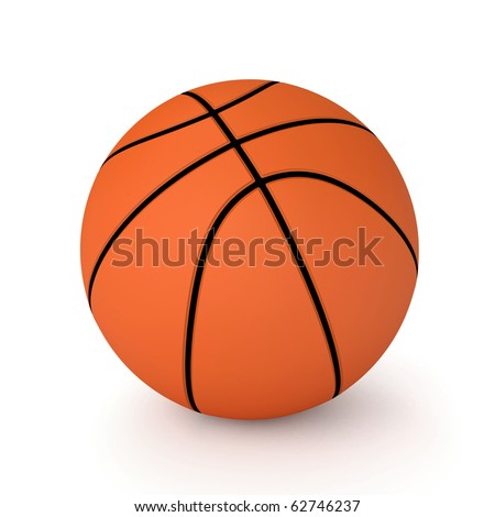 3d basket ball isolated on white background