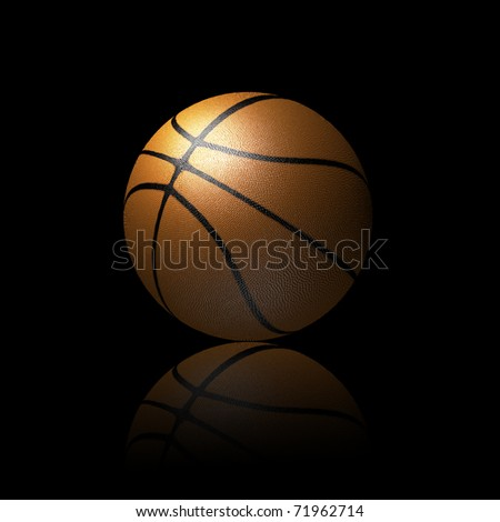 3D basketball isolated on black