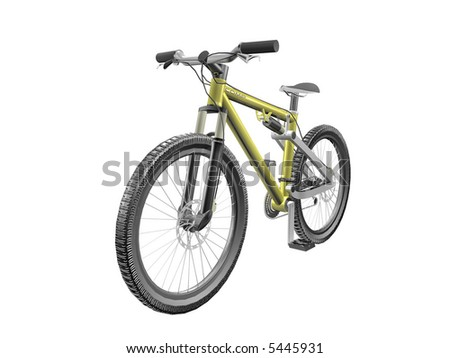 3D Bicycle isolated