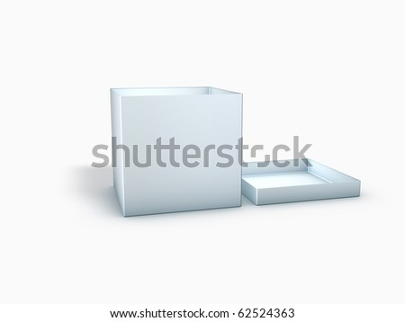 3D Blank Box with Cover