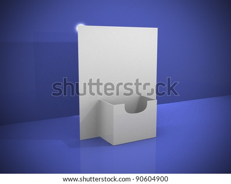 3d blank brochure holder template. 3d render illustration - stock photo