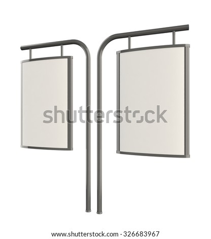 3D blank outdoor Advertising Citylight Lightbox Advertising. Illustration Isolated On White Background. #326683967