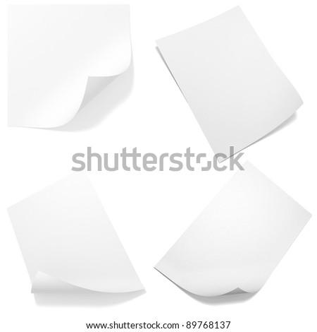3d blank paper sheet pack