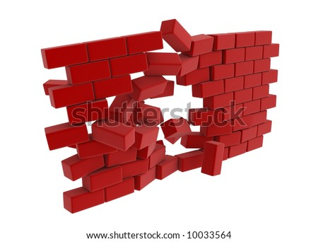 3d block wall breaking in the middle