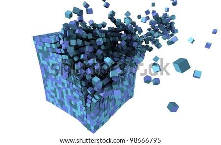 3d blocks explosion