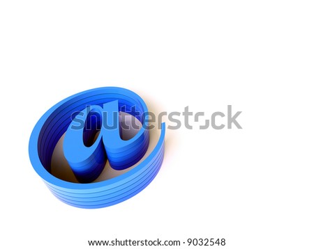 3d blue email sign