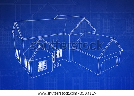 house on grungy floor plan
