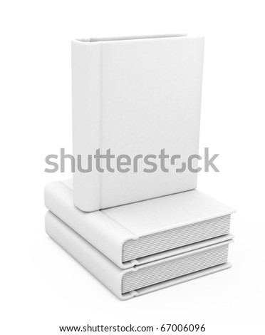 3d book with a blank cover - stock photo