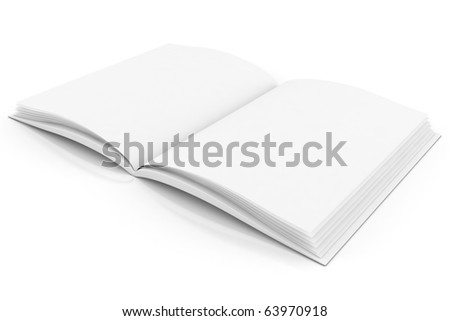 3d books with pages , isolated on white