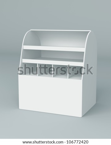 3D Box Display stand for advertising on background