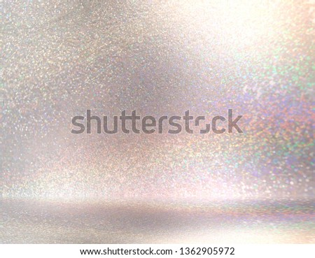 3d brilliance studio illustration. Diamond shimmer abstract room. Sparkles glitter wall and floor texture. Light gemstone cool background.
