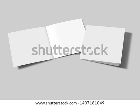 3D Brochure blank white template for mock Up and presentation design