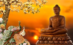 3D BUDDHA BACKGROUND WALLPAPER FOR WALLS