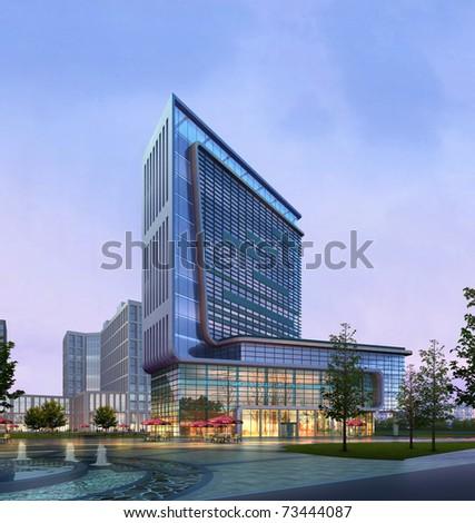 3d Business building
