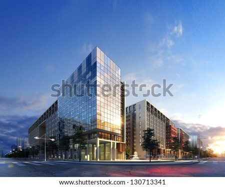 3d Business buildings