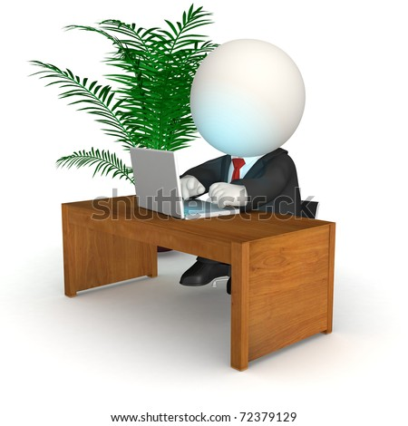Related pictures man at computer working stock illustrations
