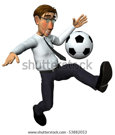 3d businessman and also footballer