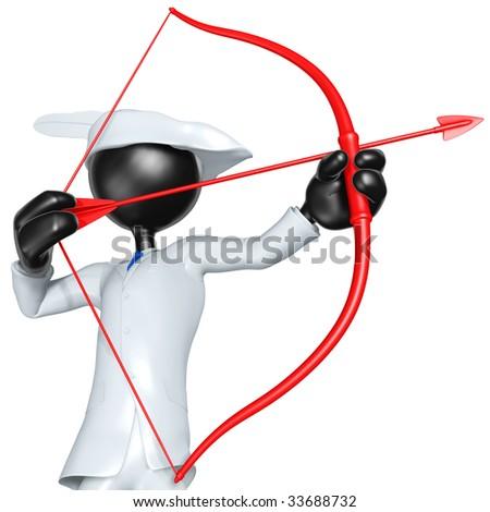3D Businessman Character Archer