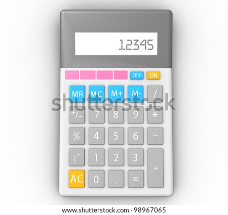 3d calculator in isolation
