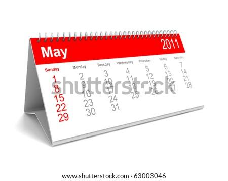 3D calendar May 2011